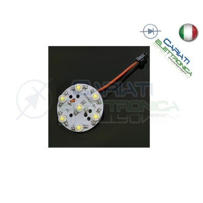 Basetta 7 led Power Bianco freddo 1W 7x1W con lente diametro 49mm