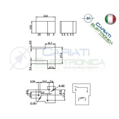 Relay Relè 5V Dc 30A Circuito Stampato Pcb SLA-05VDC-SL-A SLA