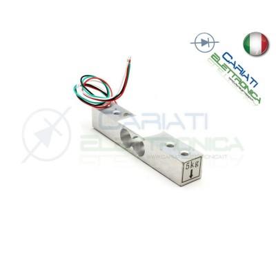 Cella di carico 5Kg bilancia sensore peso arduino pic