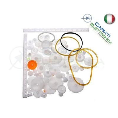 Kit 75 Pezzi tra cui Ruote dentate ingranaggi in PLASTICA per modellismo robot 6,90 €