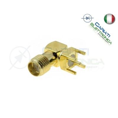1 PEZZO Connettore Adattatore SMA femmina angolo 90° 50O THT per PCB teflon
