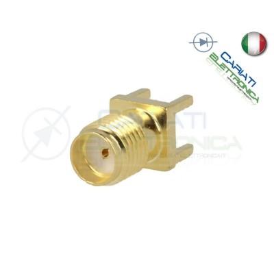 1 PEZZO Connettore Adattatore SMA femmina 50Ω THT per PCB teflon