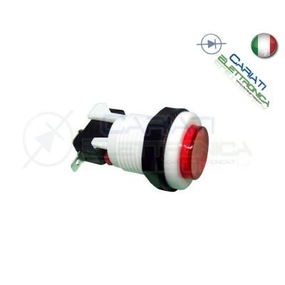 Pulsante Arcade Spdt 250V 4A Rosso Generico