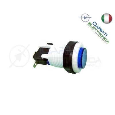 1 PEZZO PULSANTE ARCADE SPDT 250V 4A BLU 2,50 €