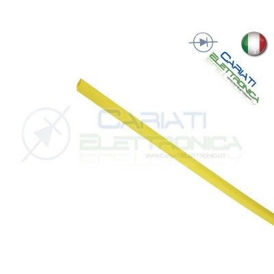 Guaina Termoretraibile Termorestringente GIALLA 10m da 1,5mm 4,00 €