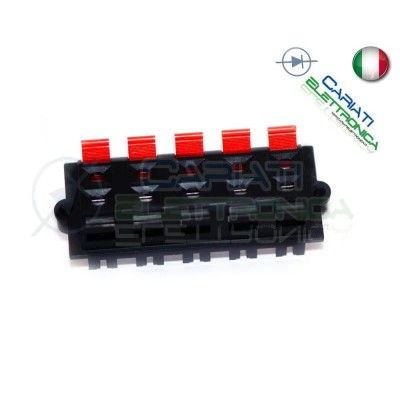 Morsettiera a Molla per Casse Audio Altoparlante Speaker 10 poli 78mm  1,60€