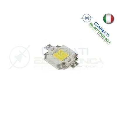 Chip power LED 10W 12V Bianco freddo 6000K alta Luminosità ricambio faro