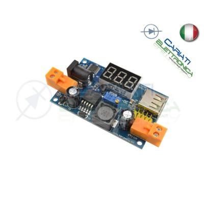 Regolatore Step-Down LM2596 con display USB jack 2.54mm DC-DC 5/40 1.25/37 Vdc