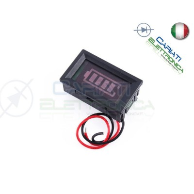 INDICATORE DI CARICA Display led da pannello per batterie 3.3V 4.2V DC
