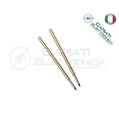 5 PEZZI Sonda test a molla PCB IC P50-B1 di diametro 0.68 mm Spring Probe Pin 1,50 €