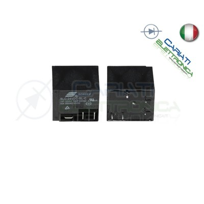 Relè singolo scambio Songle SLC-24VDC-SL-C 30A 24VDC 24V 2,90 €