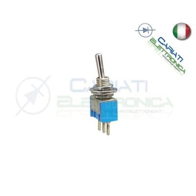 Interruttore Deviatore a Leva ON ON 6A 120V CON PIN DA PCB