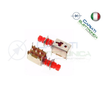 2 PEZZI INTERRUTTORE DEVIATORE ON ON DPDT 50V 300mA 6pin PCB  1,00 €