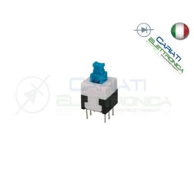 2 PEZZI PULSANTE DEVIATORE ON ON DPDT MICRO DOPPIO 8X8 mm PCB 6 PIN  1,00€