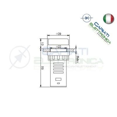 SPIA DI SEGNALAZIONE LUMINOSA 12V AC DC LED ROSSO VERDE  2,50€