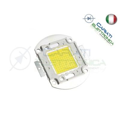 Chip power LED 100W Bianco Freddo 6000K alta Luminosità ricambio faro Generico