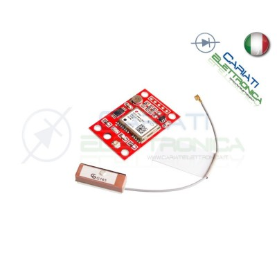 Modulo GY-NEO6MV2 NEO-6M GPS NEO6MV2 con Antenna per Arduino  10,90€