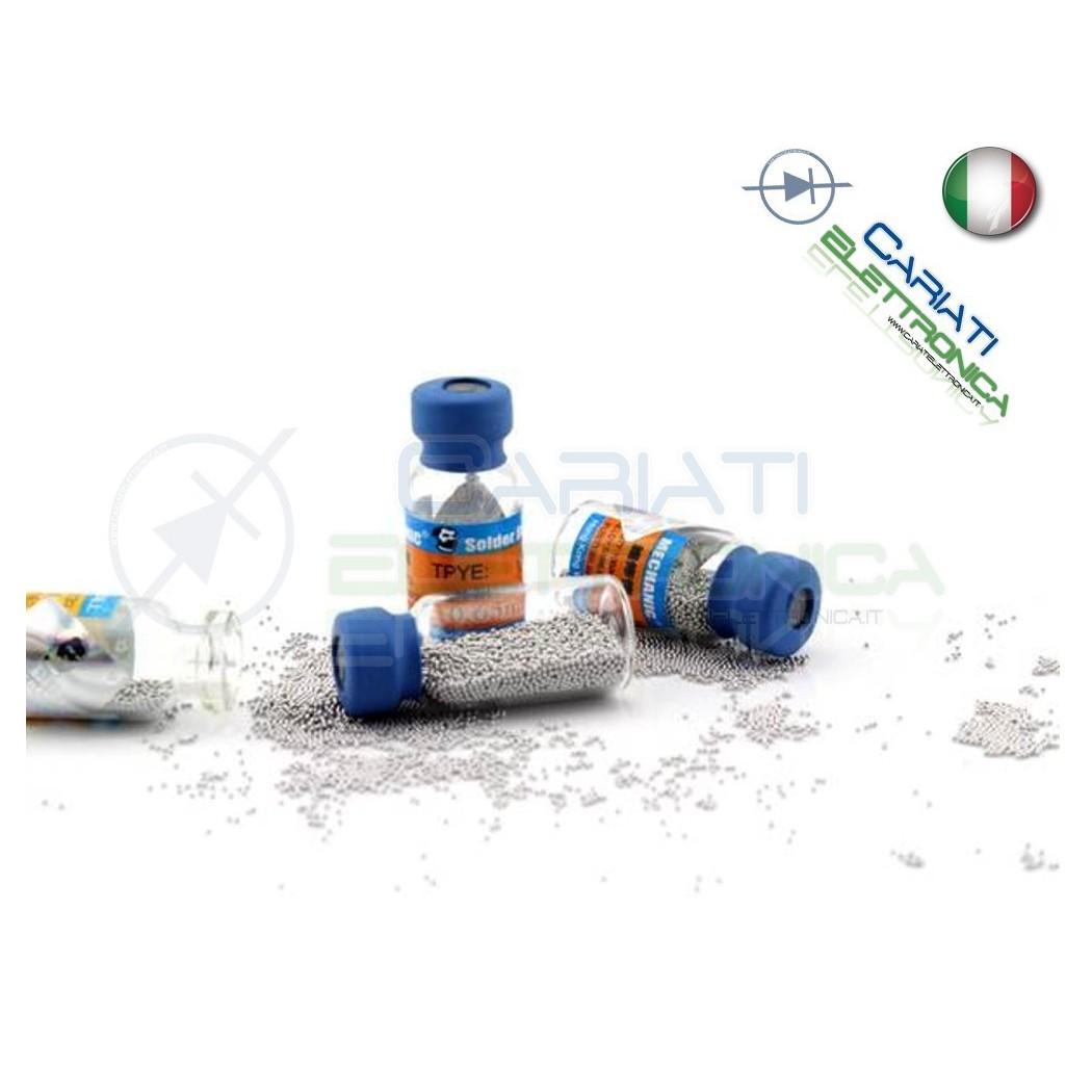 10.000 Palline di stagno Sn63 Pb37 0,5 0.5 mm Solder Ball Reballing