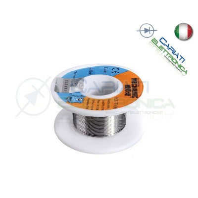 50g STAGNO D. 0.3mm 63/37 Flux 1-3% Sn63 Pb37 micro saldature Bobina rotolo filo