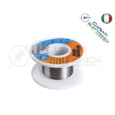 50gr BOBINA ROTOLO FILO STAGNO 0.3mm Sn63 Pb37 Flux 1-3% micro saldature