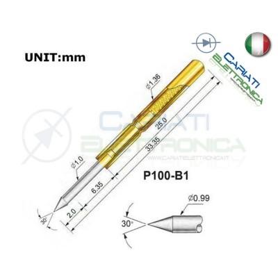 5 Pezzi Sonda test a molla PCB IC P100-B1 ring Probe Pin Generico