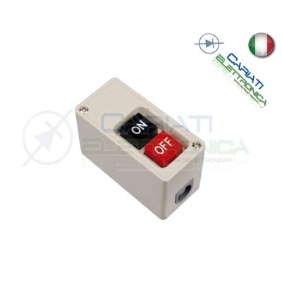 Interruttore ON OFF da pannello quadro con scatola 15A IP30  9,90 €