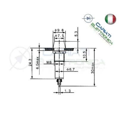 SPIA DI SEGNALAZIONE LUMINOSA 12V LED ROSSO  1,00€