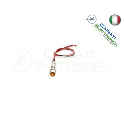 SPIA DI SEGNALAZIONE LUMINOSA 12V LED ARANCIONE  1,00€