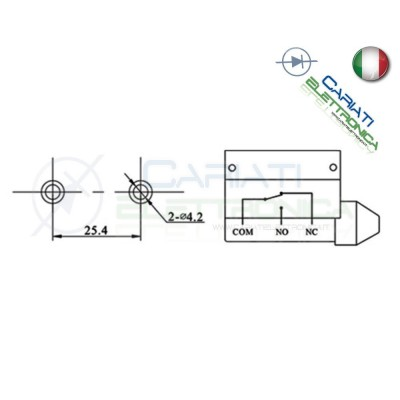 Microswitch Pulsante Fine Corsa Micro Switch SPDT a leva 10A 250V