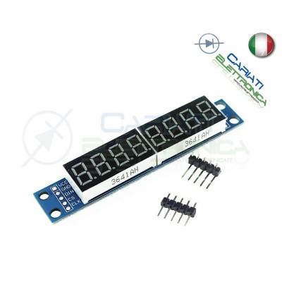 Modulo display 7 segmenti a 8 cifre seriale con MAX7219 shield arduino pic