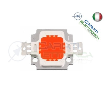 Led Power ROSSO 10W 10 Watt 9-12V 1A 620-630nm