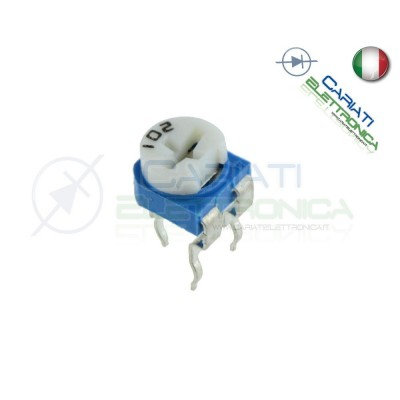 5 pezzi Potenziometro Trimmer Resistenza Variabile 1 Mohm