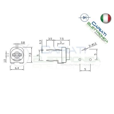 5 pezzi Potenziometro Trimmer Resistenza Variabile 200 ohm
