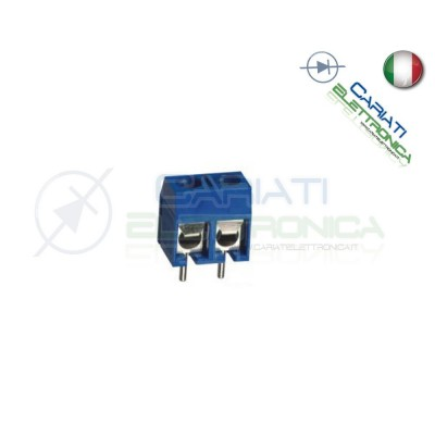 2 PEZZI Morsettiera Morsetti 2 Poli H 12,5mm Connettori