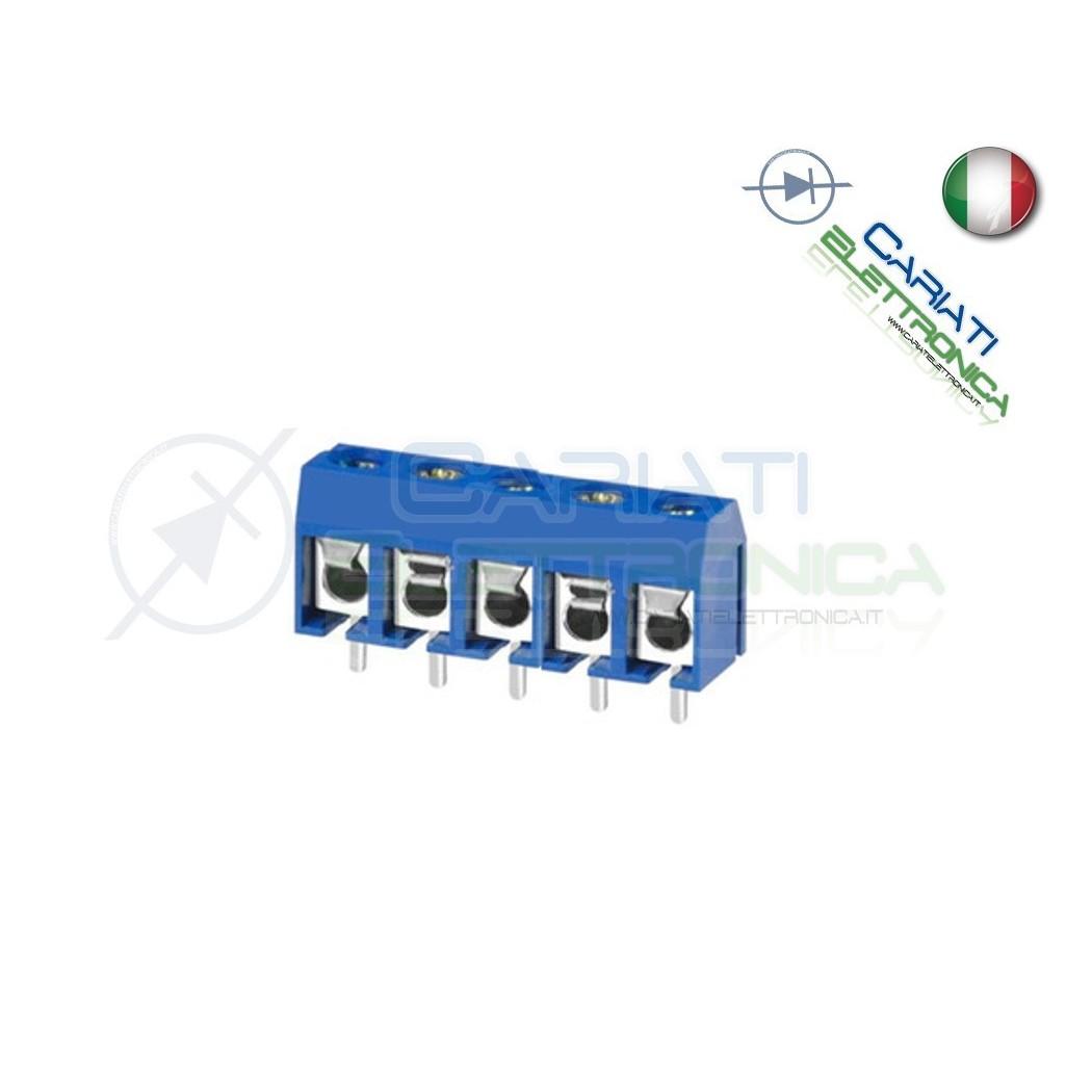2 PEZZI Morsettiera Morsetti 5 Poli H 12,5mm Connettori  1,30€