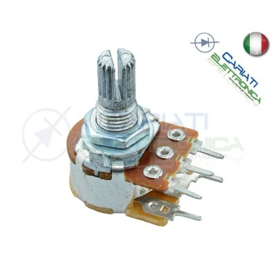 Potenziometro 100Kohm Lineare B100K con interruttore Monogiro Switch Perno 15mm
