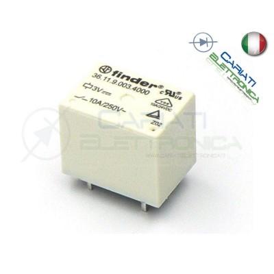 Relè Finder 36.11.9.003.4011 con bobina 3Vdc 3V DC 10A 250Vac 10A 30Vdc SPDT Finder 1,99€