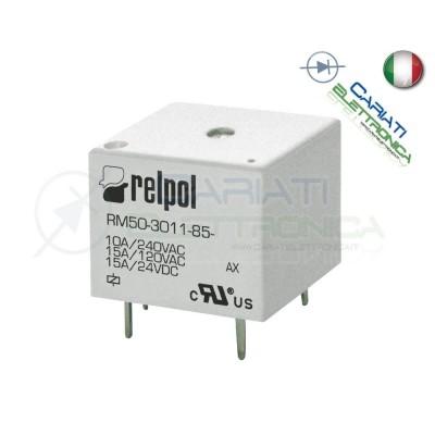 Relè RELPOL RM50-3011-85-1003 con bobina 3Vdc 3V DC 10A 240Vac 15A 24Vdc SPDT  1,09€