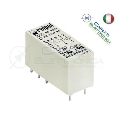 Relè RELPOL RM84-2012-35-1003 con bobina 3Vdc 3V DC 8A 250Vac 8A 24Vdc DPDT  1,90€