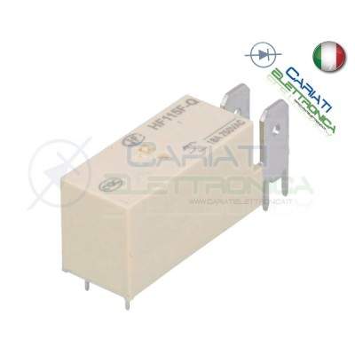 Relay voltage coil 12V HF115F-Q-012-1H Spst 18A 250Vac HongfaHONGFA RELAY