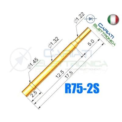 5 PEZZI ADATTATORE ZOCCOLO R75-2S per sonde a molla Probe Pin P75 Generico
