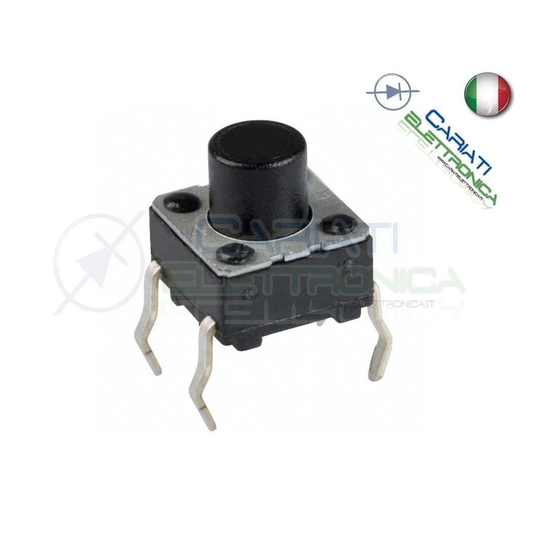 50 PZ MINI MICRO PULSANTE 6X6X6 mm PCB Tactile Switch SPST