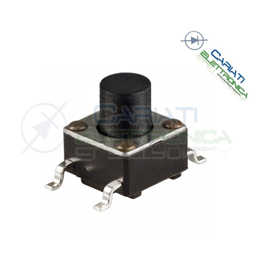 50 MINI MICRO PULSANTE 6X6X9.5 mm PCB Tactile Switch SPST