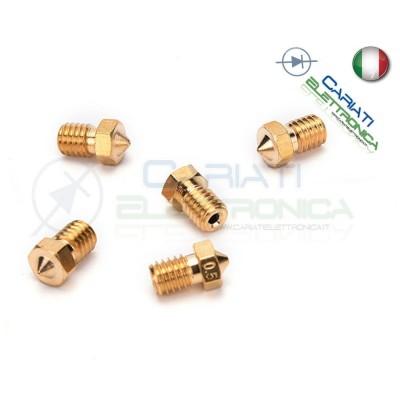Kit 5 pezzi Ugello Nozzle per Estrusore in ottone 1.75mm E3DV6 Stampante 3D 4,99 €