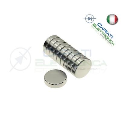 10 Pezzi CALAMITE MAGNETI NEODIMIO 8mm 8X1 mm POTENTI FIMO CERAMICA BOMBONIERE  1,50€