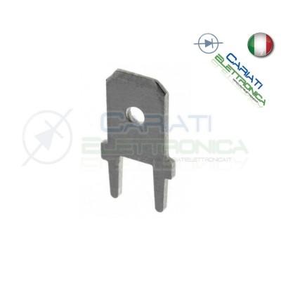 10 PEZZI Faston Maschio per PCB 6,35x0,8mm
