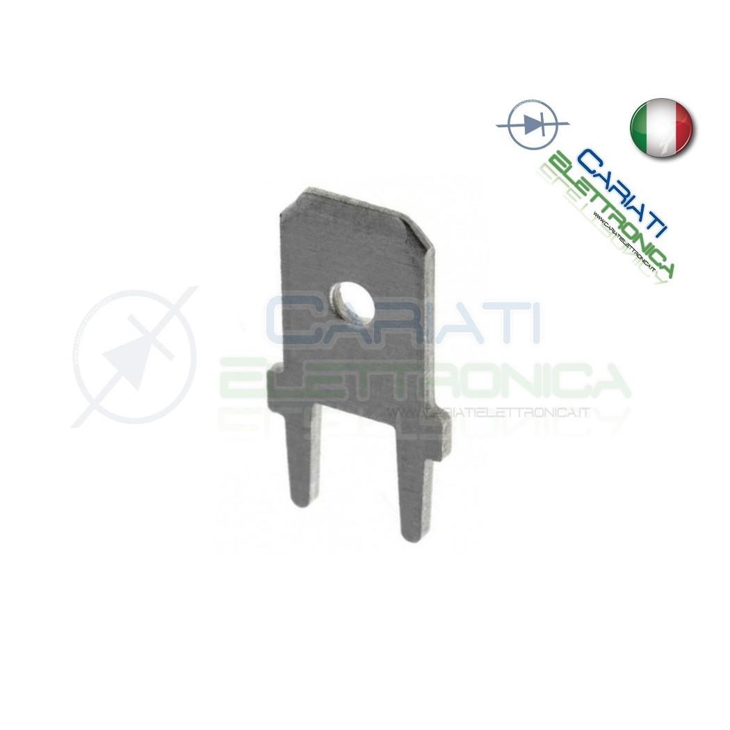 10 PEZZI Faston Maschio per PCB 6,35x0,8mm  1,00€