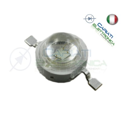 10 PEZZI Led Power VERDE 1W 1 Watt 350mA  520-523nm 30 lumen lm