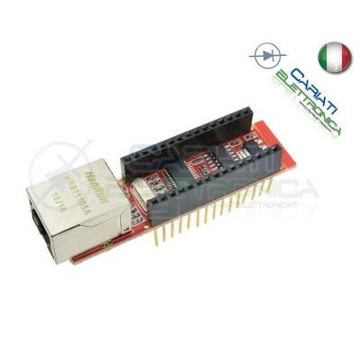 SCHEDA MODULO ENC28J60 Ethernet HR911105A RJ45 Lan Webserver per Arduino Nano