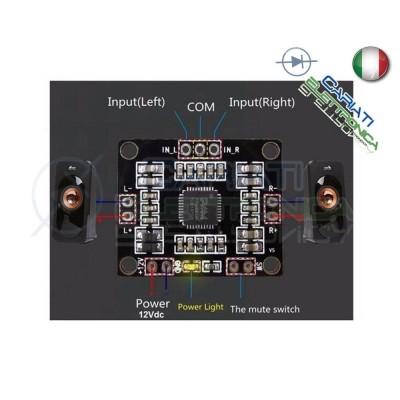 PAM8610 Mini Amplificatore Digitale Dual Channel Stereo Mini Classe D 2X15W